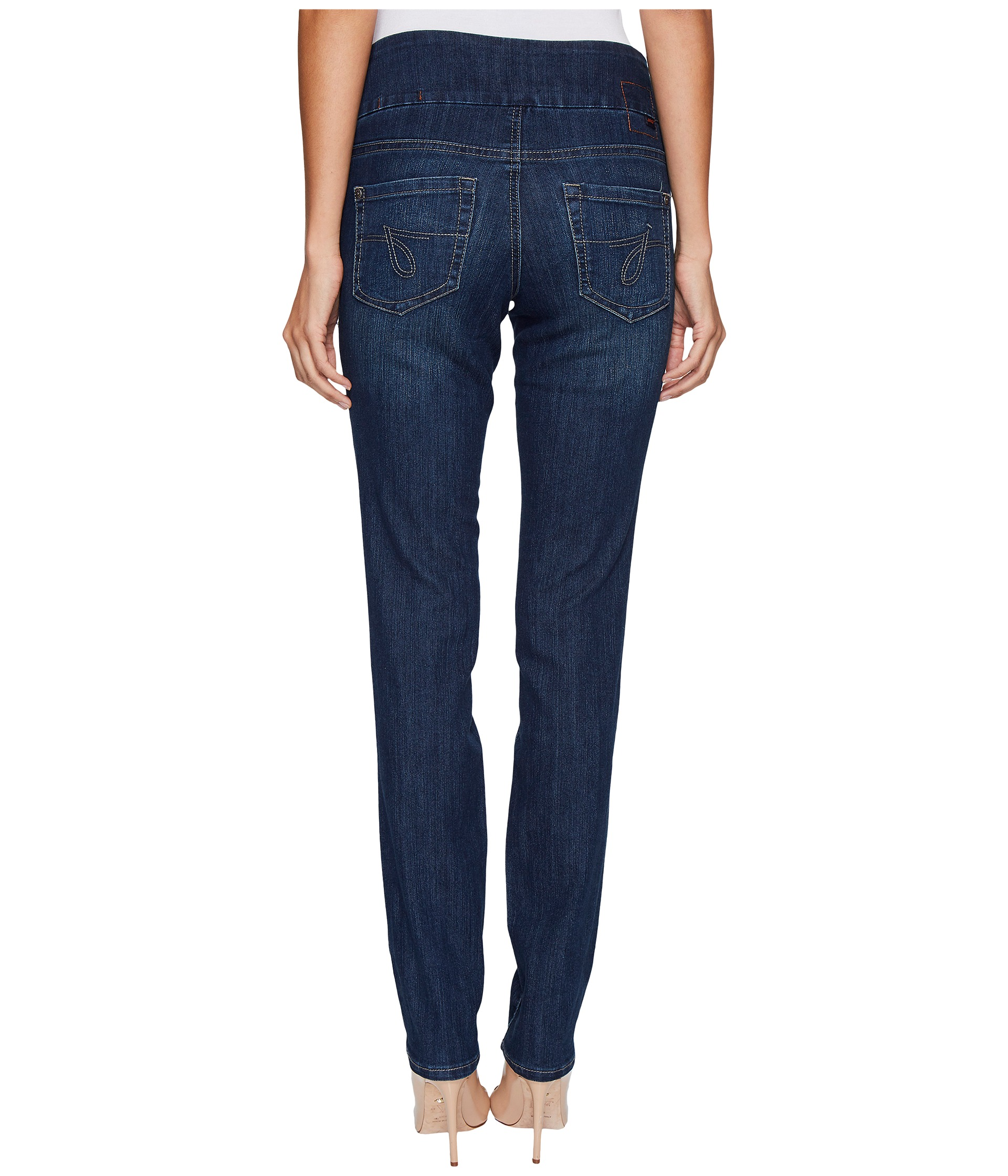 Jag Jeans Malia Pull-On Slim in Blue Shadow at Zappos.com