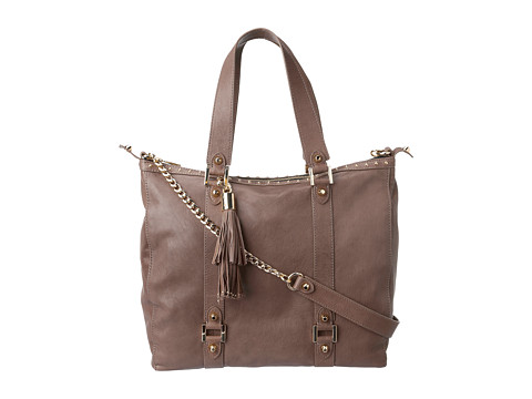 Juicy Couture Zip Top Tote Deveo Leather Weathered Stone