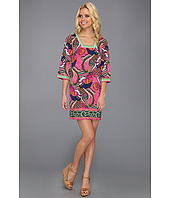 Laundry by Shelli Segal - Print Square Neck 3/4 Sleeve Jersey Dress