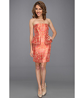 Laundry by Shelli Segal - Strapless Brocade Peplum Dress