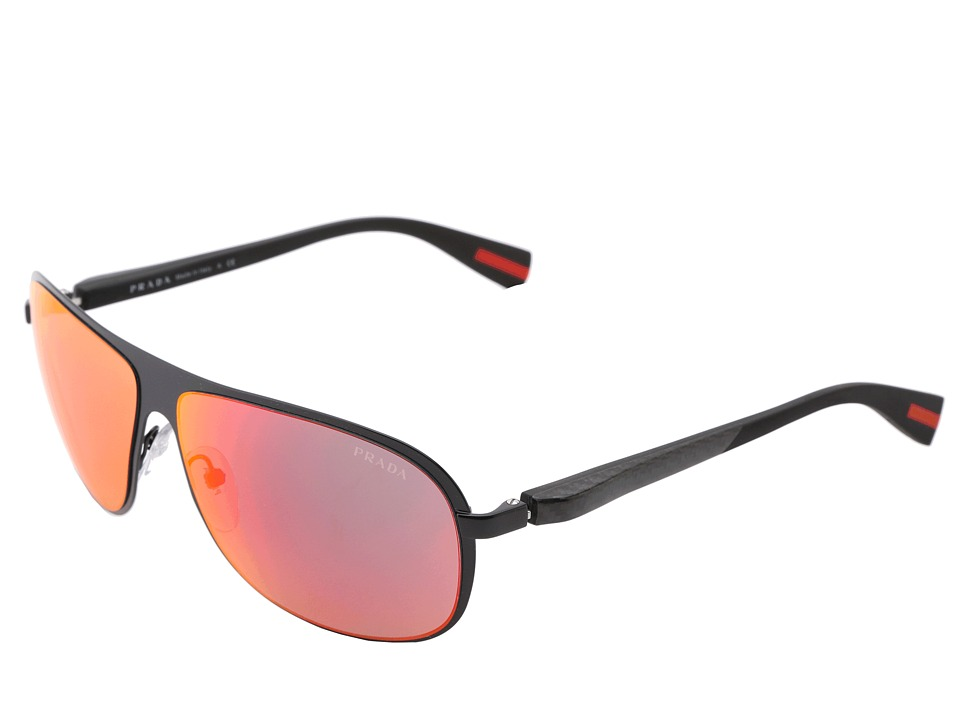 Prada Linea Rossa PS 56OS Black/Red Multilayer Fashion Sunglasses