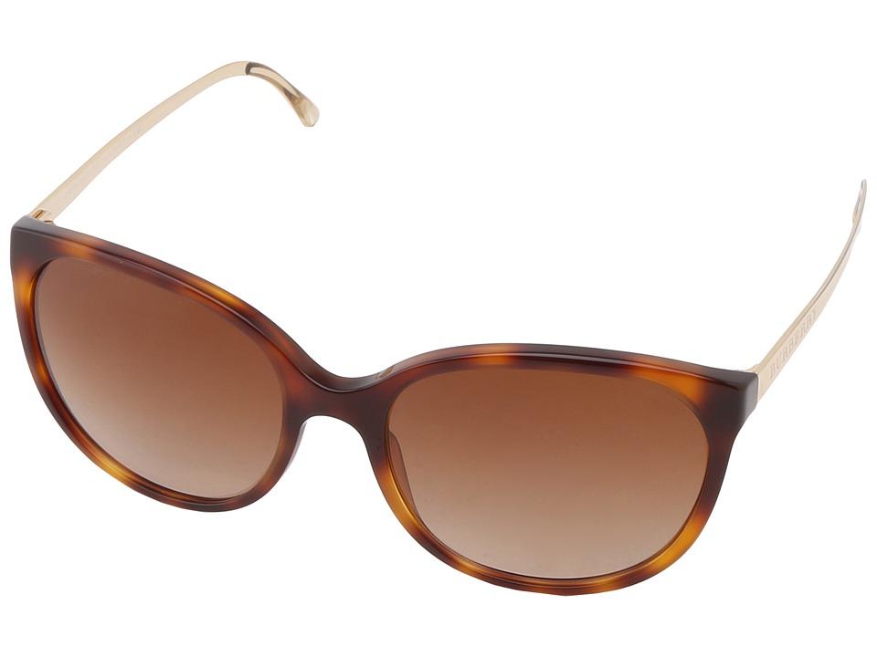 Burberry BE4146 Havana/Brown Gradient Plastic Frame Fashion Sunglasses