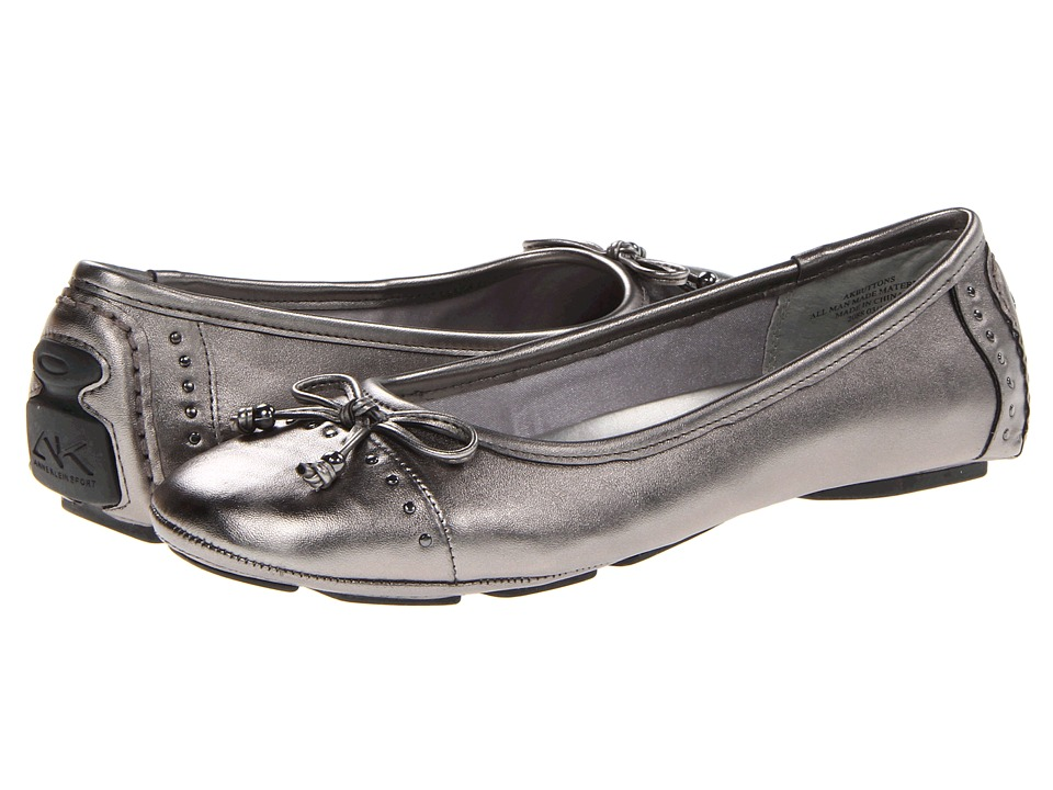 Anne Klein Buttons Flat (Pewter 2) Flats