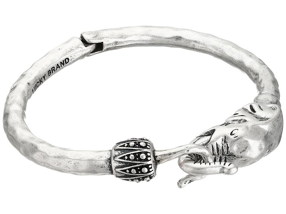 Lucky Brand - Bombay Fillagree Elephant Cuff (Silver) Bracelet