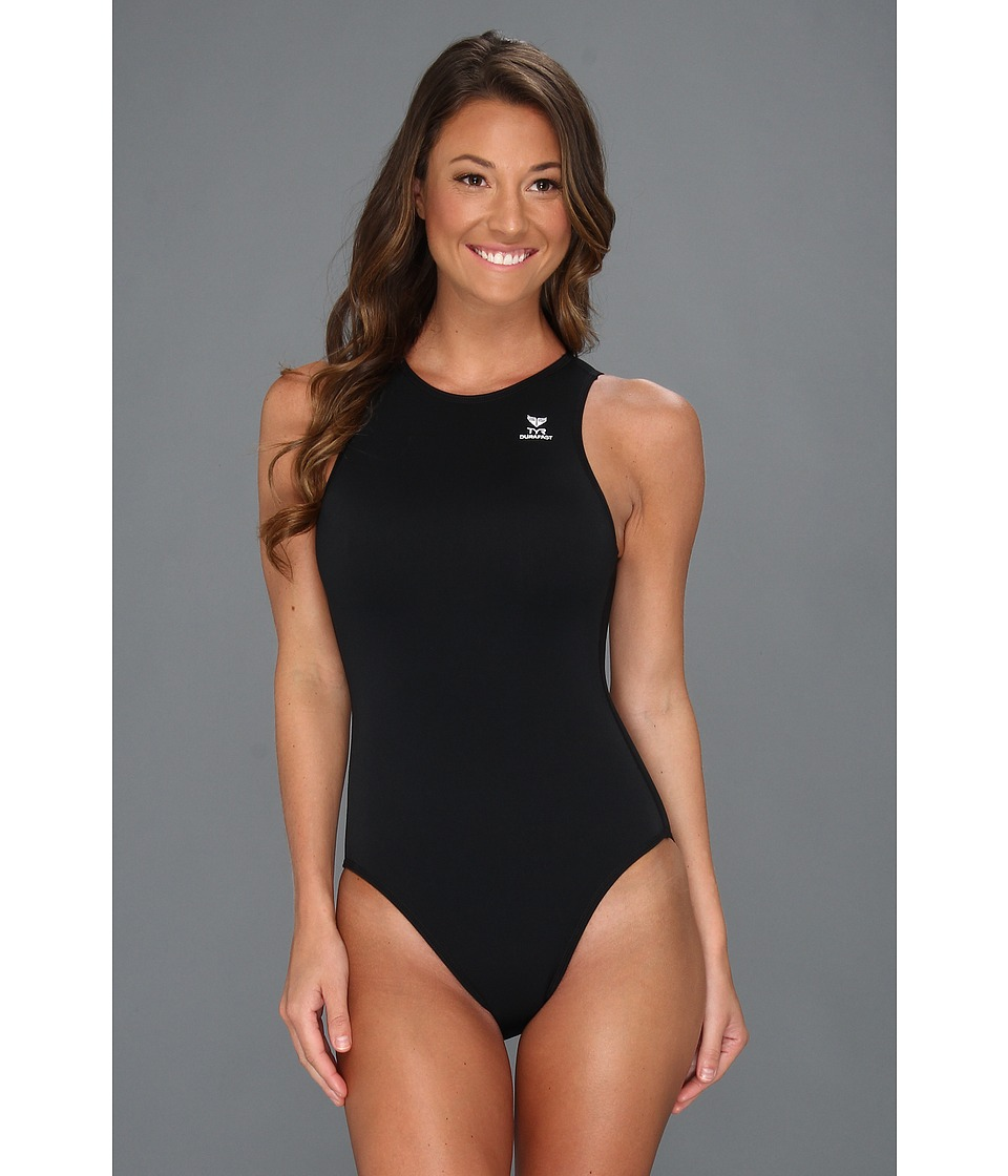 TYR - Destroyer Water Polo Swimsuit (Black) Womens Swimsuits One Piece