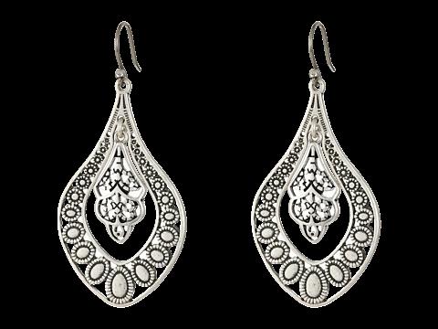 Lucky Brand - Sahara Dust Filligree Oblong Earring