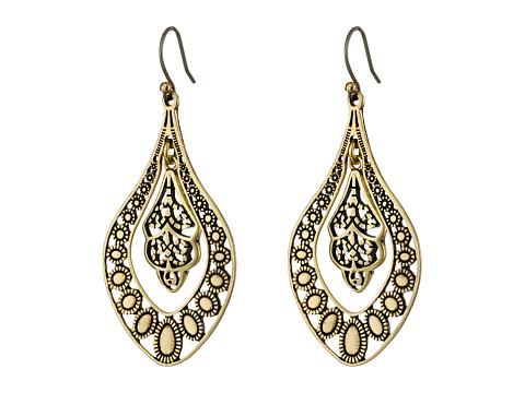 Lucky Brand Sahara Dust Filligree Oblong Earring - Gold