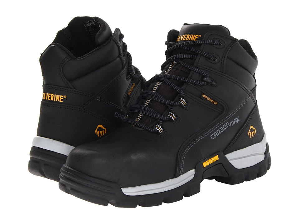 Wolverine Tarmac Comp Toe 6 Boot Black Mens Work Boots