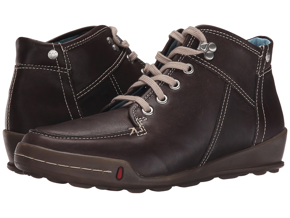 Wolky Impact Brown Greased Womens Shoes
