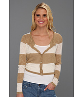 Kensie - Slub Knit Strip Cardigan