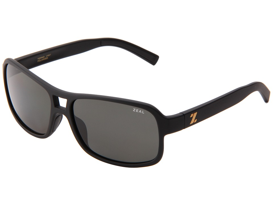 Zeal Optics Tofino Matte Black w/Dark Grey Polarized Lens Sport Sunglasses