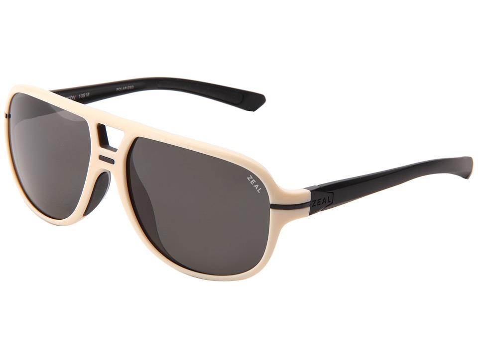 Zeal Optics Darby Polarized Caf Blonde w/Dark Grey Polarized Lens Sport Sunglasses