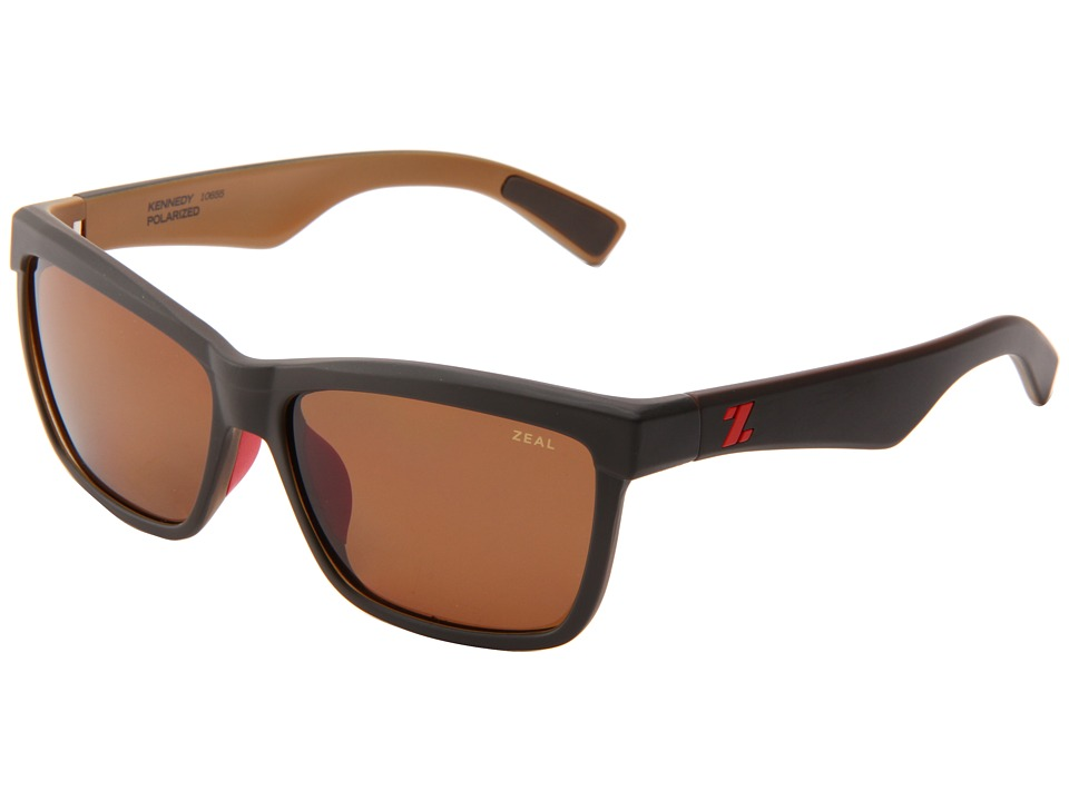 Zeal Optics - Kennedy (Black Coffee w/Copper Polarized Lens) Sport Sunglasses