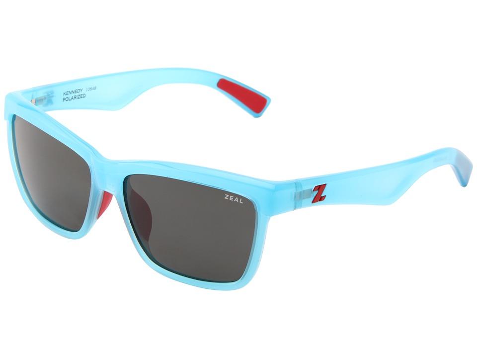 Zeal Optics Kennedy Reflection Blue w/Dark Grey Polarized Lens Sport Sunglasses