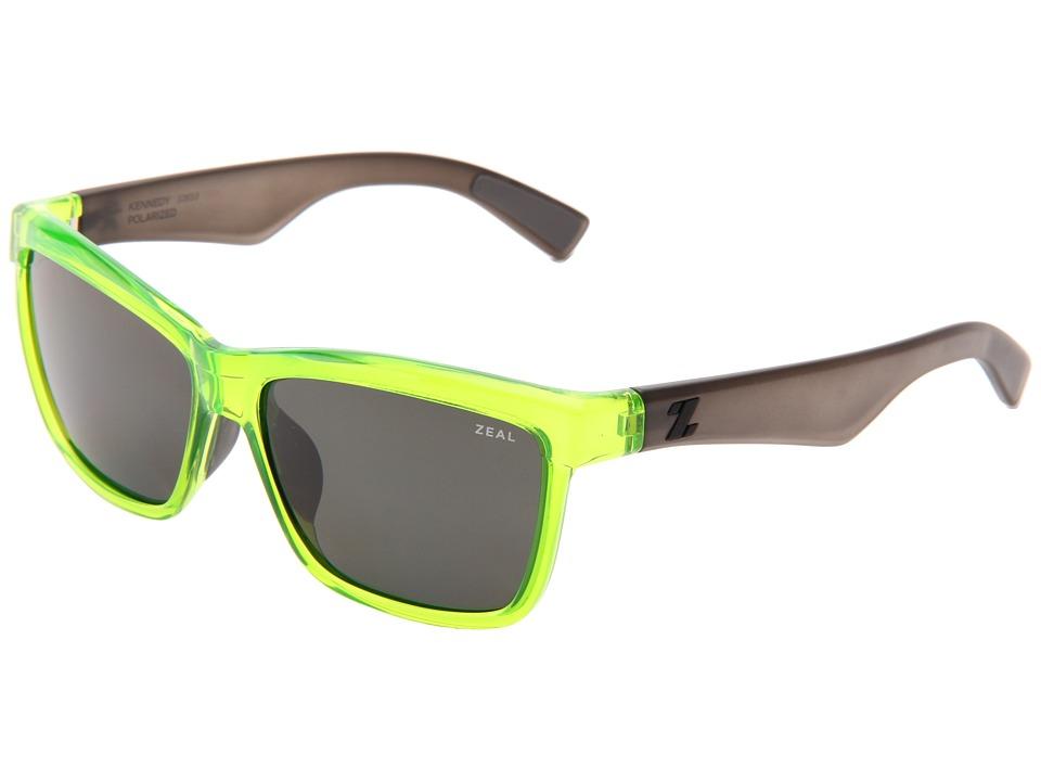 Zeal Optics Kennedy Atomic Green w/Dark Grey Polarized Lens Sport Sunglasses