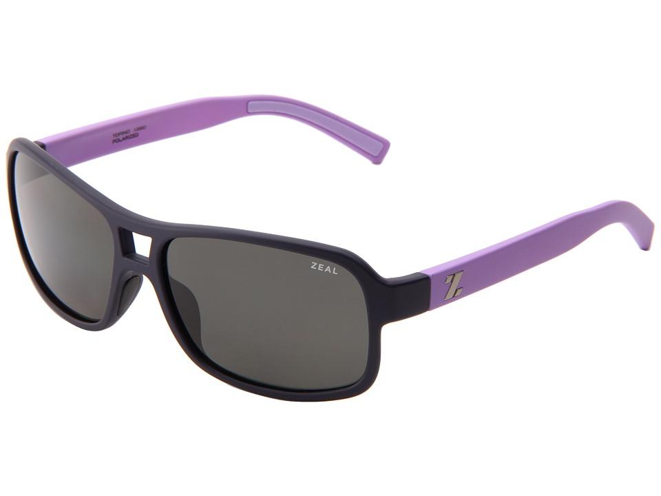 Zeal Optics Tofino Blue Lilac w/Dark Grey Polarized Lens Sport Sunglasses