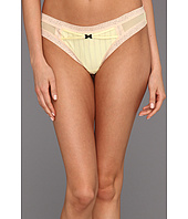 Betsey Johnson - Zipper Stripe Lo-Rise Wide Side Thong