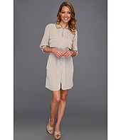 Kenneth Cole New York - Tamara Zip Front Collared Shirt Dress