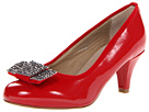 Fitzwell - Laura Bow Pump (Red Patent) - Footwear