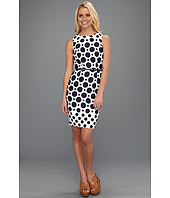 Muse - Large Dot Jacquard Fitted Dress