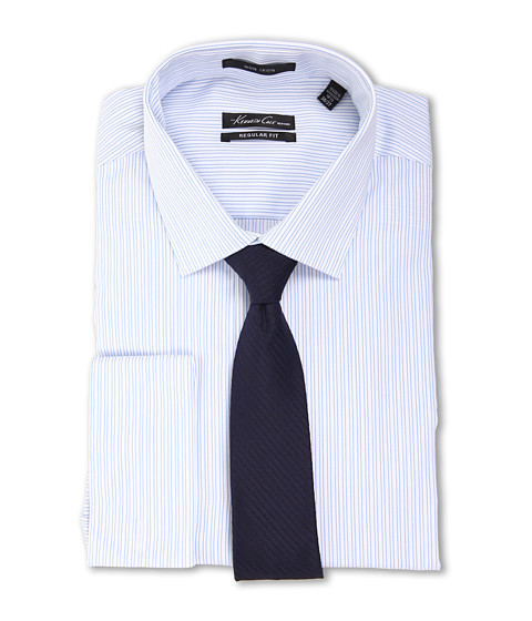 Kenneth Cole New York Non-Iron Regular Fit Stripe French Cuff Dress Shirt