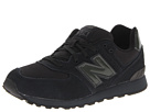 New Balance Kids 574 Big Kid Totally Black Shoes