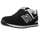 New Balance Kids 574 Big Kid Black, White Shoes