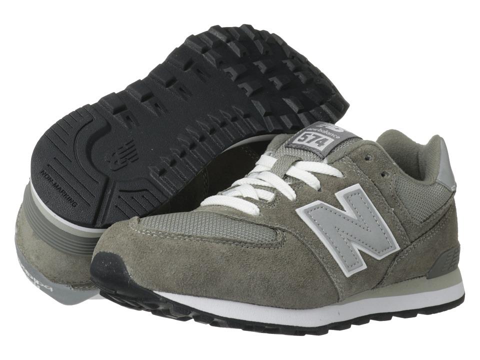 New Balance Kids - 574 (Big Kid) (Grey/Silver) Kids Shoes