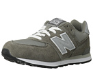 New Balance Kids 574 Big Kid Grey, Silver Shoes