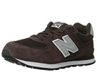 New Balance Kids 574 Big Kid Chocolate, Silver Shoes