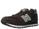 New Balance Kids 574 Little Kid Chocolate, Silver Shoes