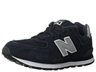 New Balance Kids 574 Little Kid Navy, Silver Shoes