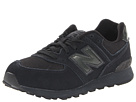 New Balance Kids 574 Little Kid Totally Black Shoes