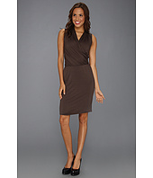Three Dots - Sleeveless Shawl Neck Dress