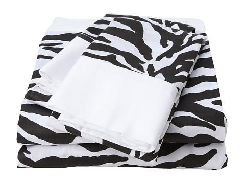 Elite Regal Collection Zebra Print Cotton Sateen 4-Piece Sheet Set