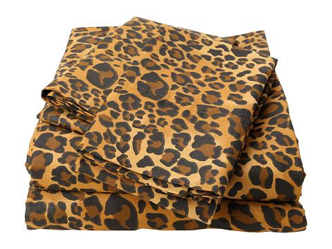 Elite Regal Collection Leopard Print Cotton Sateen 4-Piece Sheet