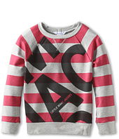 Little Marc Jacobs - Striped Block Letter Print Sweatshirt (Toddler/Little Kids)