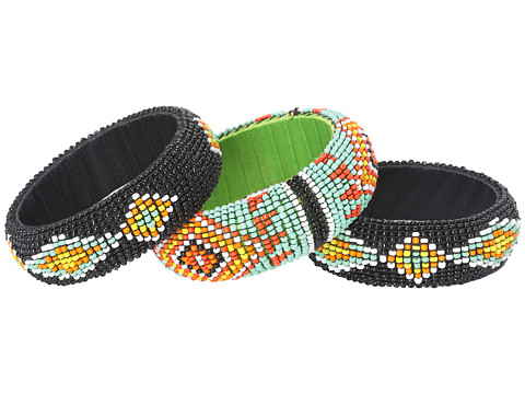 Gypsy SOULE Beaded Tribal 3 Bangle Set