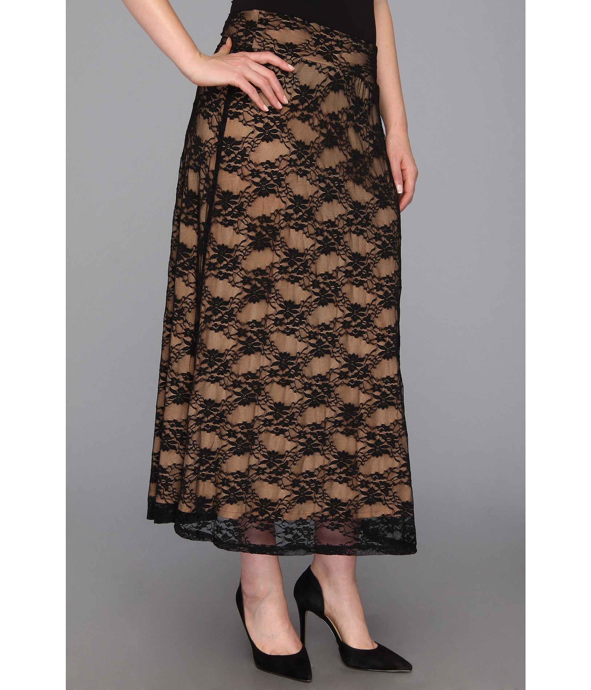 plus plus size lace maxi skirt shipped free