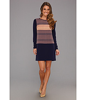 Jessica Simpson - L/S Shirt Hem Dress w/ Contrast Panel