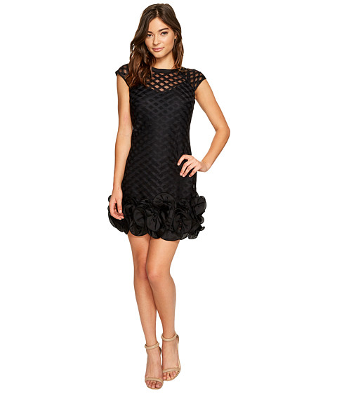 Jessica Simpson Lace Dress with Feather Hem