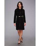 Calvin Klein - L/S Belted Sweater Dress w/Zipper