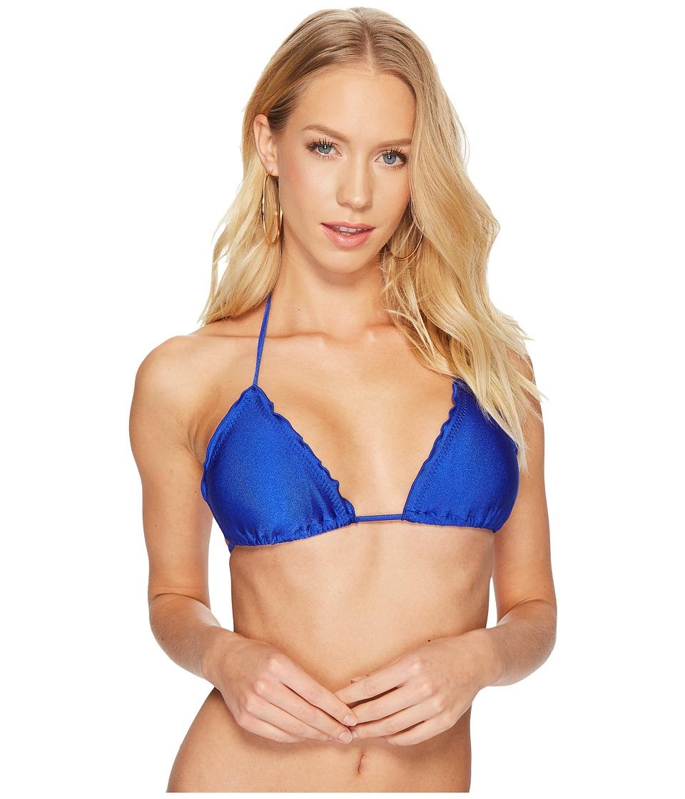 Luli Fama Cosita Buena Wavey Triangle Bikini Top (Electric Blue) Women