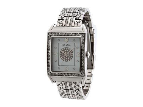 Brighton Diamond Bar Watch - Silver/Stone