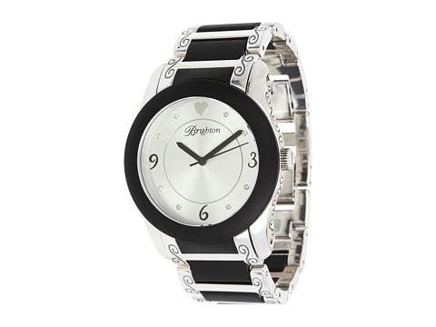 Brighton Brooklyn Watch - Silver/Black