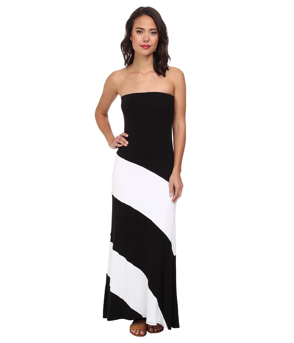 Culture Phit Fannette Stripe Maxi Dress (Black/White) Women