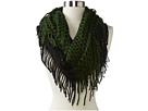 Steve Madden - Half And Half Infinity Scarf (Hunter) - Accessories