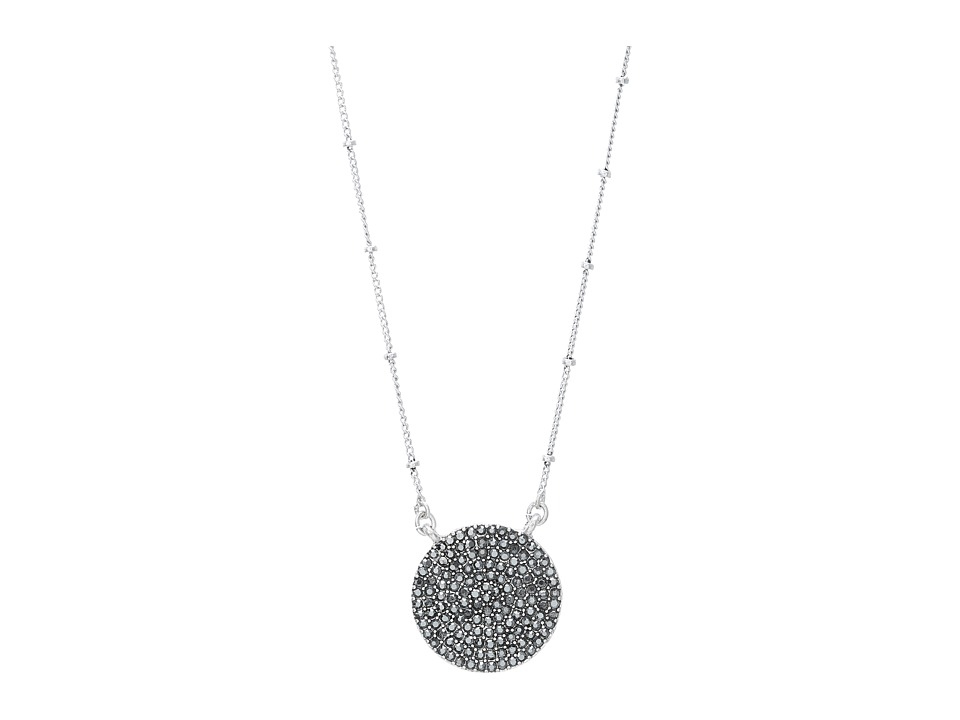 Lucky Brand - Urban Beat Carded Pave Necklace (Silver) Necklace