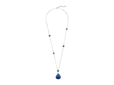 Lucky Brand Urban Beat Long Blue Pendant Necklace