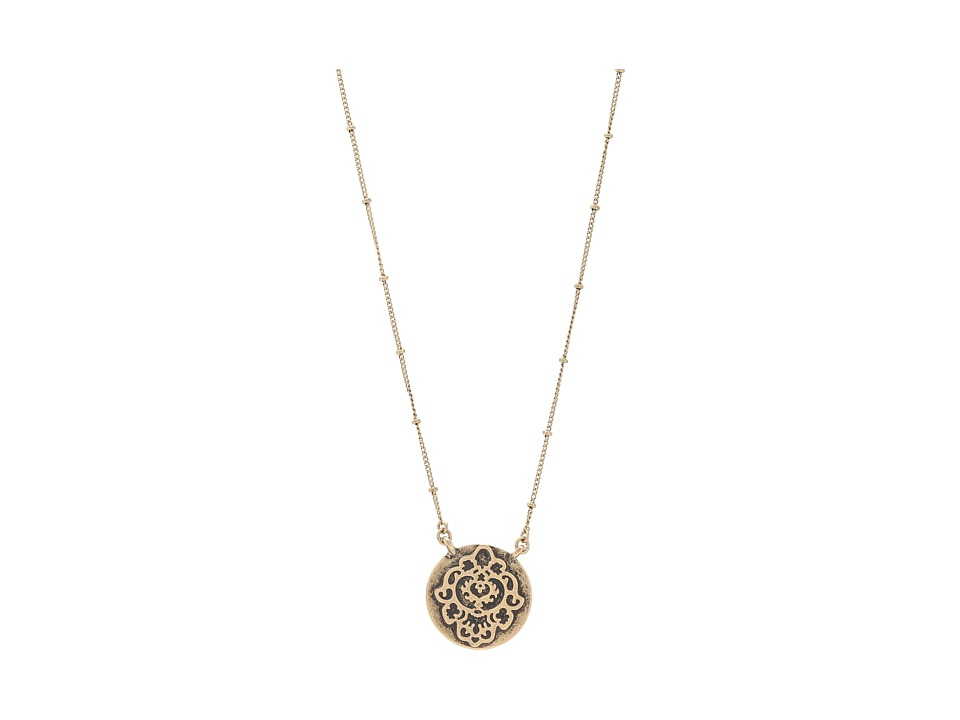 Lucky Brand Urban Beat Carded Pave Necklace Gold Necklace